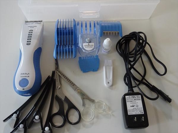 わが家の散髪セット~テスコム電動バリカン、スキカットTC420
