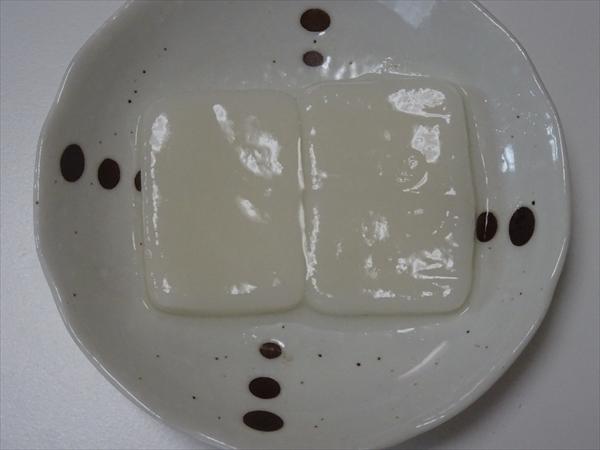 非常食のきなこ餅、水だけで食べられる