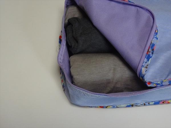 帰省用のバッグの中身はこんな便利グッズをつかってスッキリ収納しています。