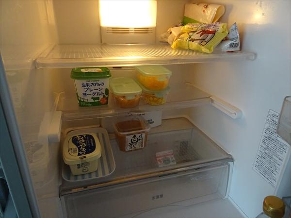 冷蔵庫の中身、公開、生協配達前
