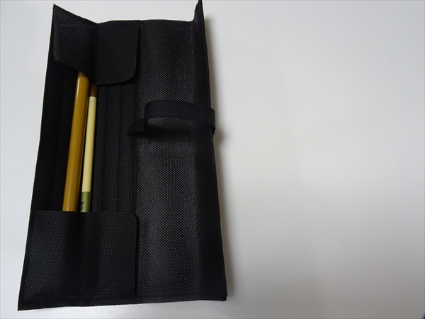 いまどきの書道セット、かんたん筆まき(不織布製)