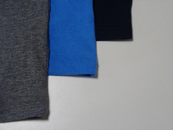 息子のTシャツ、灰色、青、紺