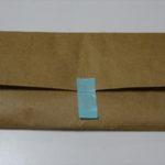エチケット袋の作り方は簡単なので手作りで用意しました。