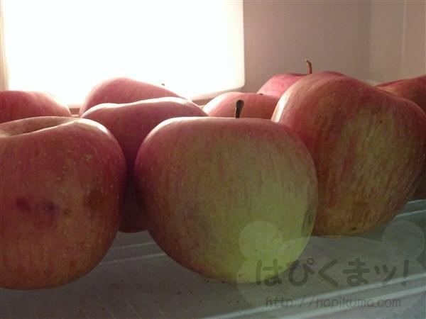 冷蔵庫の中身、リンゴ